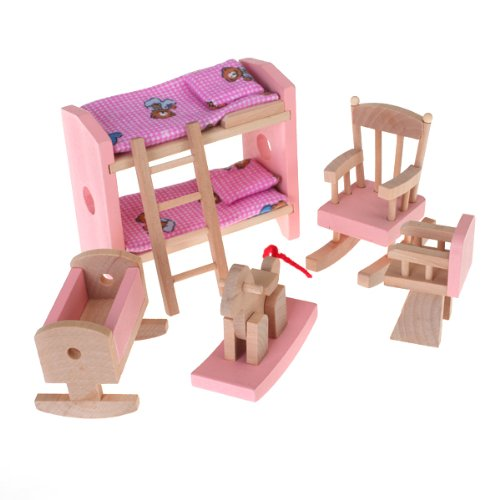 1 X Dollhouse Funiture Wooden Toy Kids Room Set - 1