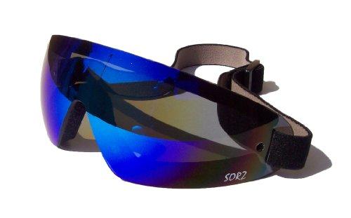 sorz-MotoIncassable-parachute-antibue-de-scurit-gogglesjet-Bleu-Miroir-Objectif
