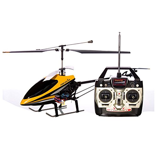 Azimporter Preschool Children Activity Playset 3Ch 9101 Co-Axial Remote Control Rc Helicopter With Built In Gyro Color Yellow
