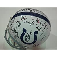 2012 Colts Team Signed Autographed Full Size Helmet Authentic Certified Coa with Andrew Luck