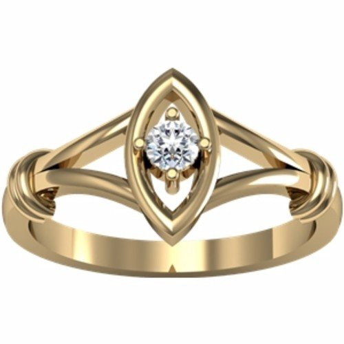 14K Yellow Gold Diamond Promise Ring - 0.10 Ct. - Size 5.5
