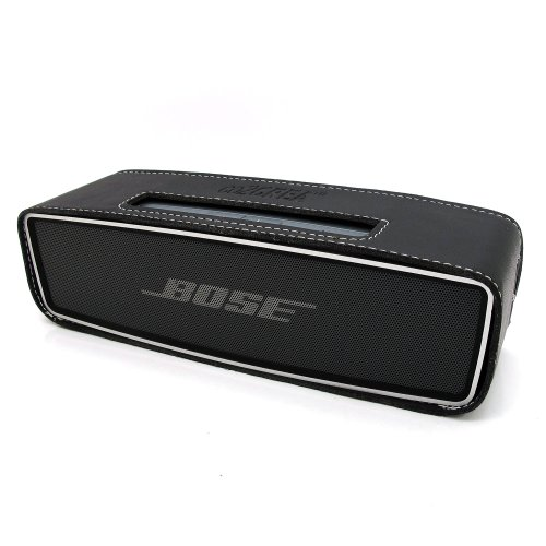 Co2Crea(Tm) Black Pu Leather Case Skin Sleeve Bumper Protective Cover For Bose Soundlink Mini Wireless Bluetooth Speaker