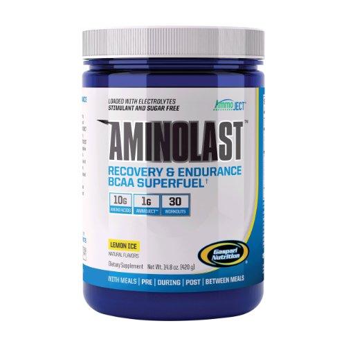 Gaspari Nutrition  Aminolast Powder, Lemon Ice, 14.8 Ounce