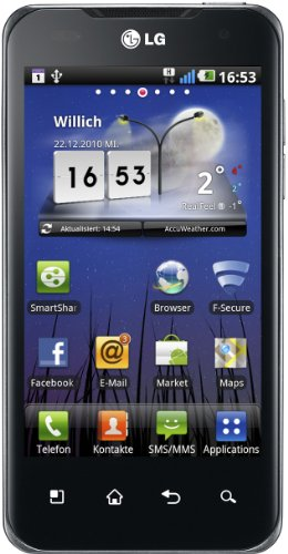 LG P990 OPTIMUS Speed Dual-Core Smartphone (10,16cm (4 Zoll) Touchscreen, Android 2.2, 8 MP Full-HD Video, Nvidia Tegra 2, 3.5mm Buchse, HDMI, GPS)  braun