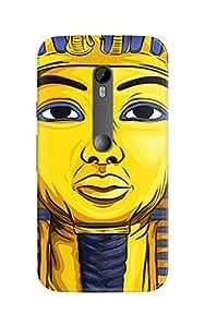 Urban Monk Pharaoh Mobile Back Cover for Moto G3 [Matte Finish]