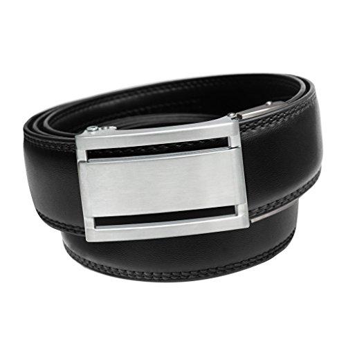 EazyBelt 2.0 Manhattan Brushed Silver - Black/Small