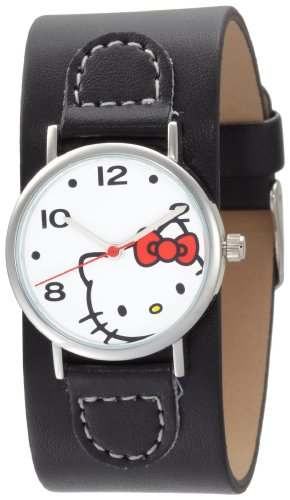 Hello Kitty Women's H3WL1000BK White Dial Watch