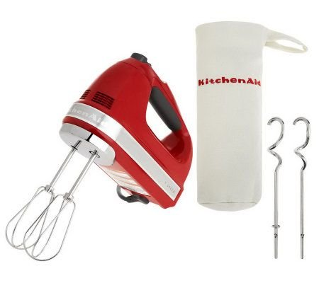 Kitchenaid 721 Series 7-Speed Digital Hand Mixer W/ Bag & Dough Hooks