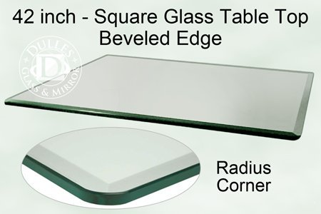 42 inch square glass table top 12 inch thick bevel for 12 inch square table