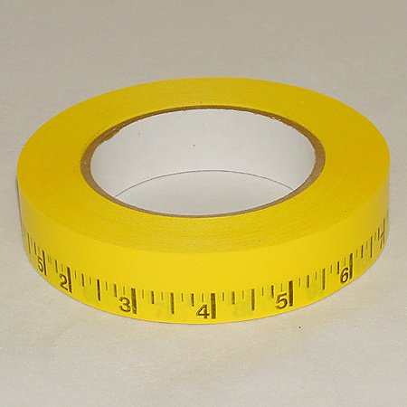 Pro Tapes Pro-Measurement Ruler Tape: 1 in. x 50 yds. (Yellow with Black printing / Imperial scale)