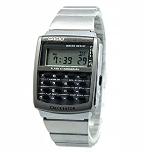 Casio CA-506-1DF Men's Digital Calculator Stainless Steel Bracelet Alarm Watch