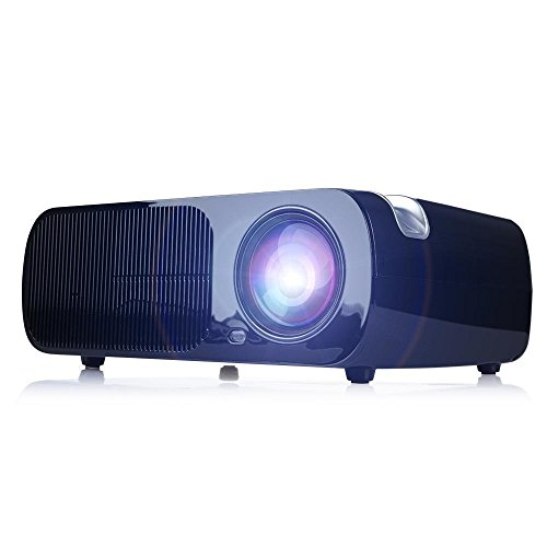iRulu BL20 Video Projector, 2600 Lumens Home Cinema 5.0 Inch LCD TFT Display 1080P HD 3D (Black) (Projector 3d 1080p Full Hd compare prices)