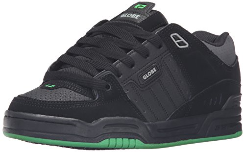 GLOBE Skateboard Shoes FUSION BLACK/BLACK/GREEN Size 8.5