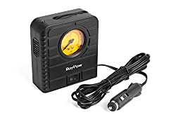 See Roypow I80 12v Car Auto Electric Air Compressor & Portable Tire Inflator & Pump Tool for Motorcycle, Bicycle, Balls and Air Cushion Inflation Details