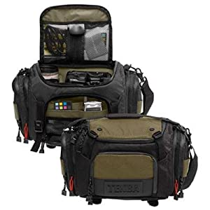 Tenba 632-611 Shootout Medium Shoulder Bag (Black/Olive)