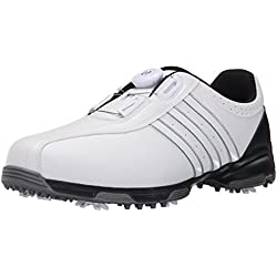 Adidas Men's 360 Traxion Boa Golf Shoes (White)