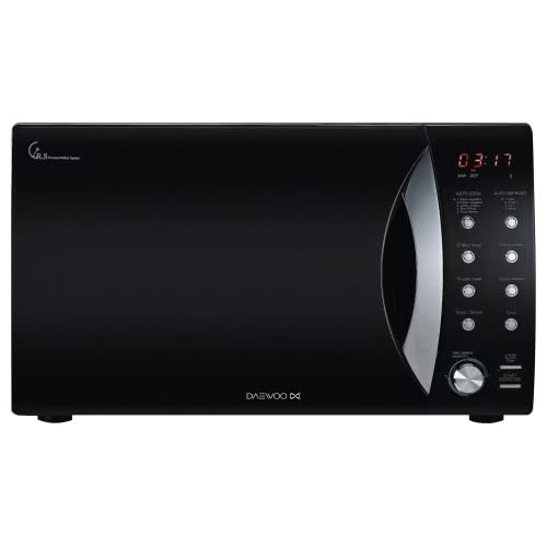 Daewoo KOR8A0R Touch Control Solo Microwave Oven, 800 Watt, 23 Litre - Black