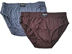 Ecott Mens Brief Underwear (Pack of 2) (ECT-BR132_XL_Multi Colour_XL)