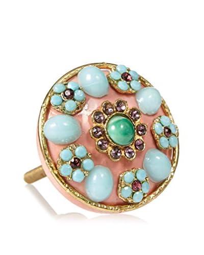 A. Sanoma Inc. Ceramic Bejeweled Knob, Pink/Blue