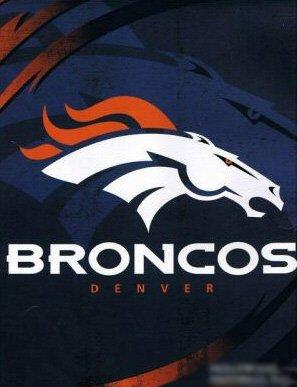 Denver Broncos Royal Plush Raschel Blanket King Size front-828903