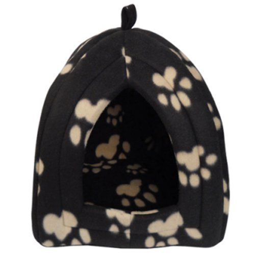 igloo-portable-foldable-travel-pet-bed-brown-cream