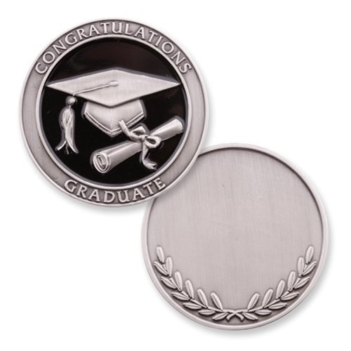 Graduate Engravable Silver Novelty Coin