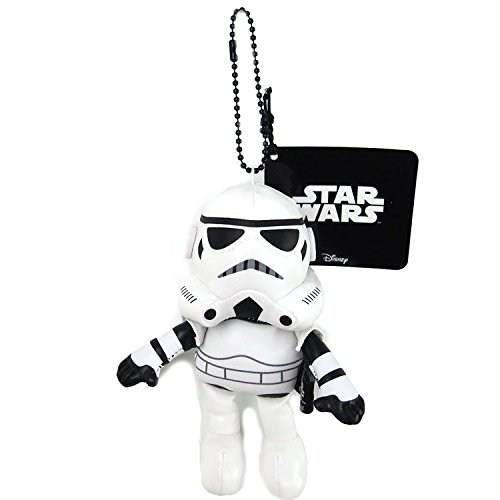 Japan Disney Official Star Wars the Force Awakens - Stormtrooper White Head Mascot Soft Plush Stuffed Toys Cushion Doll Plushie Ball Key Chain Strap Charm Phone Ring Holder Accessory Takara Tomy Arts