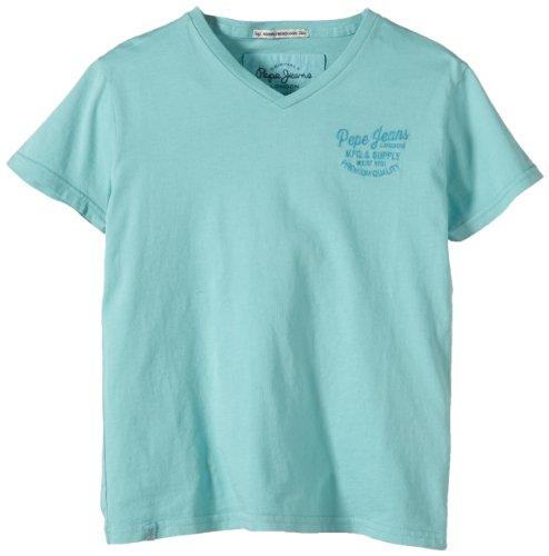 Pepe Jeans Jungen T-Shirt ADDO, Gr. 176 (Herstellergröße: L), Blau (GLACIER 526)