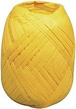 Rayher 52002164Premium Papel rafia, 100% fibra de madera, knäuel 75m, amarillo