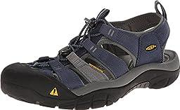 KEEN Men\'s Newport H2 Sandal, Midnight Navy/Neutral Gray, 12 M US