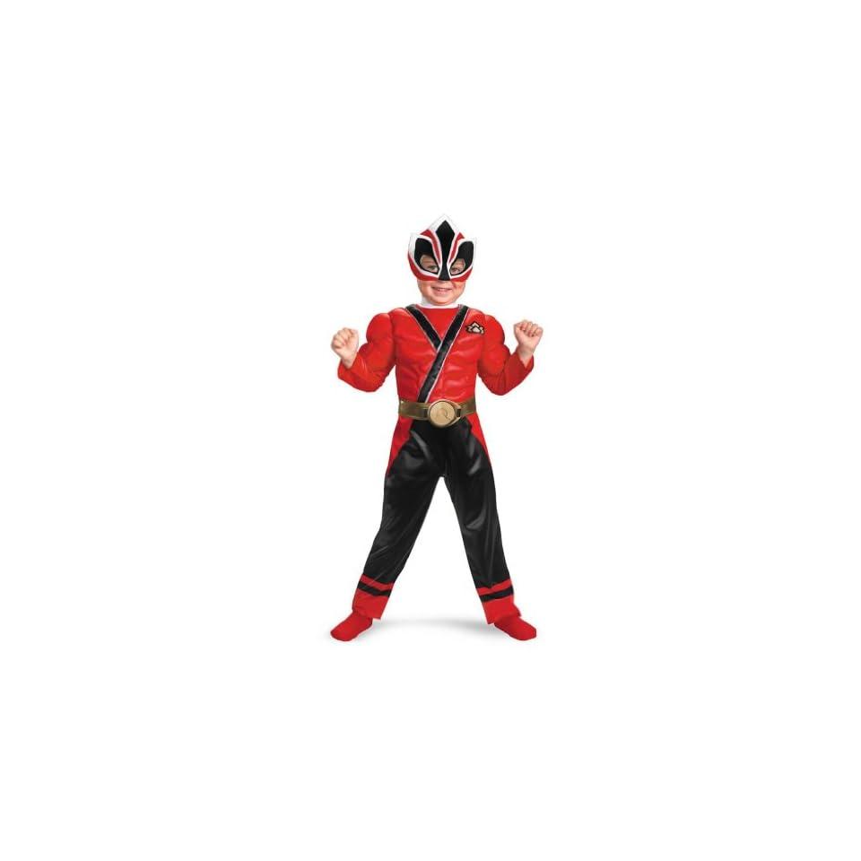 Red Ranger Samurai Muscle   Toddler Medium