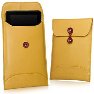 BoxWave Manila Google Nexus 7 Leather Envelope - High Quality Synthetic Leather Carrying Sleeve, Unique Envelope Pouch / Bag Design - Google Nexus 7 Cases and Covers