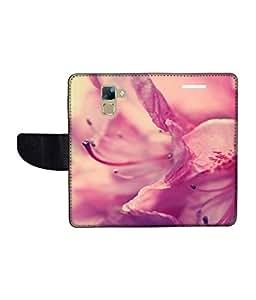 KolorEdge Printed Flip Cover For Huawei Honor 7 Multicolor - (1478-50KeMLogo09169Honor7)