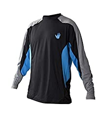 Body Glove Men\'s Performance Loose Fit Long Sleeve Shirt, Empire Blue/Black, XX-Large