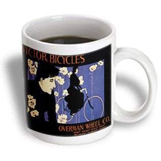 Bln Vintage Bicycle Advertising Posters - Victor Bicycles Overman Wheel Co. Boston New York, Detraio, Denver San Francisco, La, Portland - 15Oz Mug (Mug_153264_2)