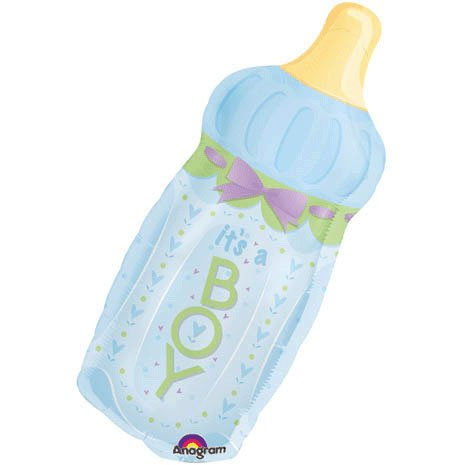 It's A Boy Baby Bottle Mini Shape