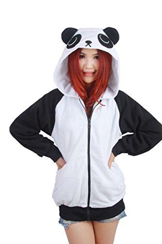 Us TOP Adult Unisex Costumes Pajamas Onesies Hoodie (Panda, S(148CM-158CM))