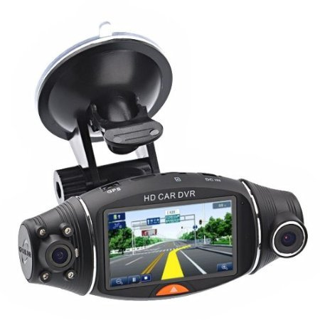 Car Dvr-2.7'' LCD Screen Rotating Dual Len Vehicle DVR Road Dash Video Camera Recorder Traffic Dashboard Recorder