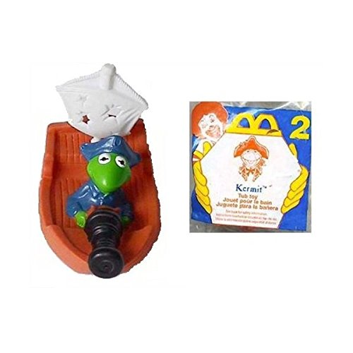 KERMIT the Frog Tub Toy McDonalds Happy Meal #2 - 1995 Muppets Treasure Island Henson - 1