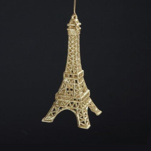 Gold Glitter Eiffel Tower Ornament