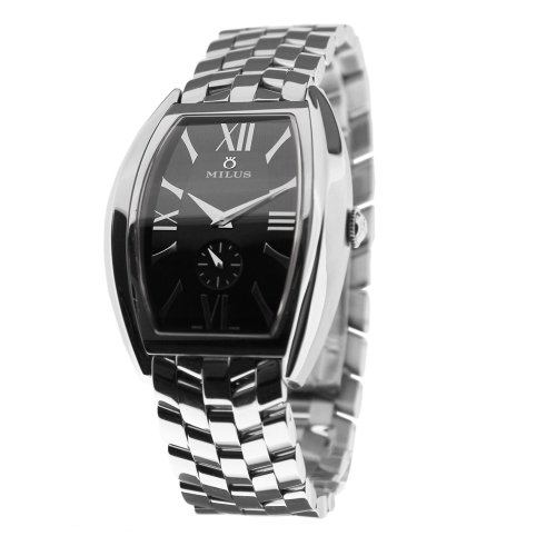 Milus Agenios AGE-018 Stainless Steel Case Steel Bracelet Band Anti-Reflective Sapphire Men's Watch