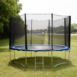 12-FT-Trampoline-Combo-Bounce-Jump-Safety-Enclosure-Net-WSpring-Pad-Ladder