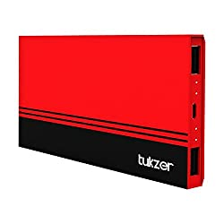 Tukzer 5200mAh Power Bank With Dual USB Slim Series (Red)