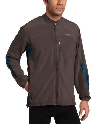 ASICS Asics Men's Peak Split Jacket, Large, Graphite/Teal