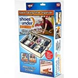 1 PC 12 PAIR SPACE SAVING SHOE ORGANIZER FABRIC DRAWERby As Seen On Tv