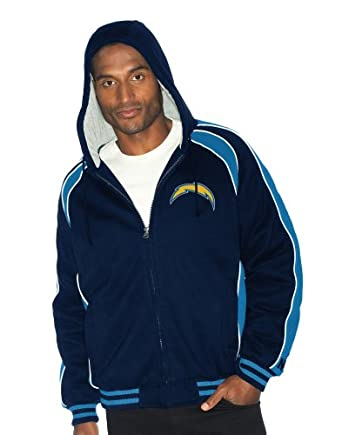 NFL San Diego Chargers Polyfilled Color Blocked Fleece Jacket Quilt Lined Mens by G-III Sports