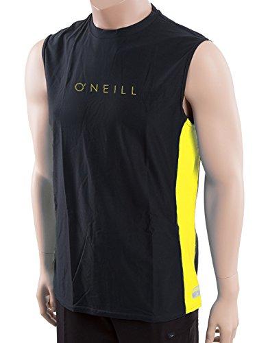 O'Neill men's 24/7 Tech Sleeveless Crew (including Big & Tall sizes) Men's 3XL-Tall Black/yellow