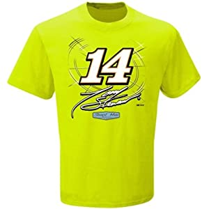 Tony Stewart NASCAR #14 Adult Caution T-Shirt - Neon Green by NASCAR