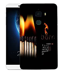 Snoogg Burn November Designer Protective Back Case Cover For LETV LE MAX