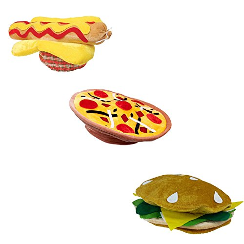 [Pizza Hat, Hot Dog Hat, And a Hamburger Hat BBQ Party Costume Dress up Hats] (Mama Mia Costumes)